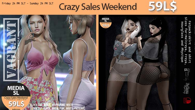 MEDIA SL CRAZY SALE WEEKEND February 21-23TH