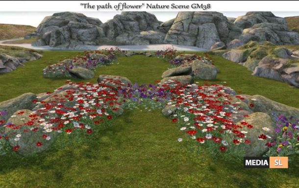 The path of flower Nature Scene – NEW DECOR