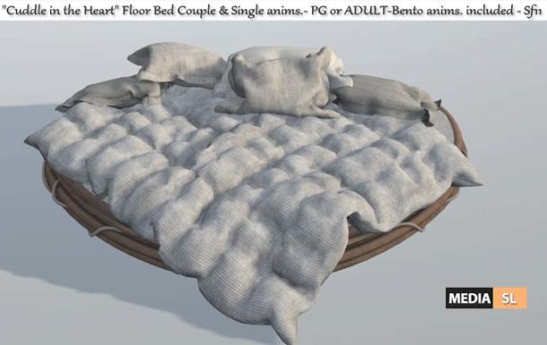 """Cuddle in the Heart"""" Floor bed – NEW DECOR"""