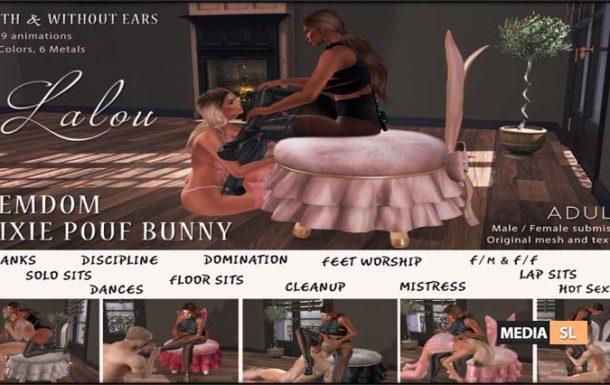 Pixie Pouf Bunny FEMDOM – NEW DECOR