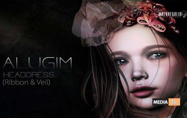 ROZOREGALIA ALUGIM HEADDRESS (Ribbon & Veil) – NEW
