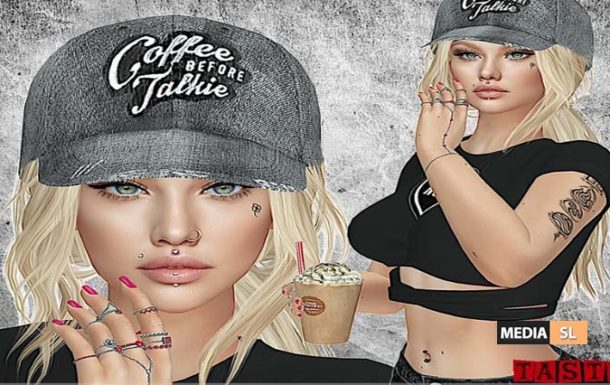 Coffee Before Talkie Distressed Hat – NEW