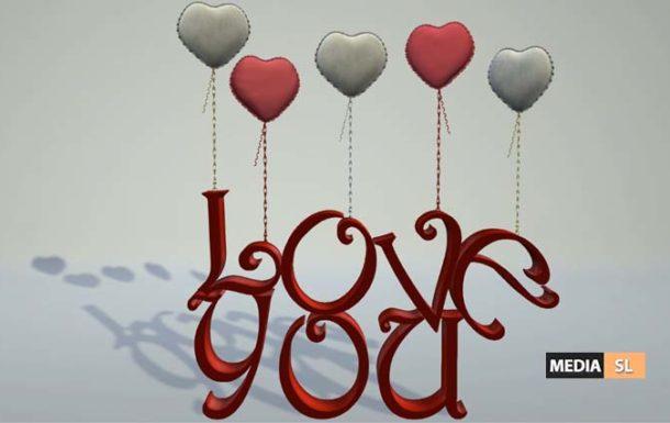 Valentine Balloons Love You Word Decor – NEW DECOR