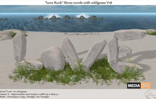 Love Rock Stone Words on wildgrass – NEW DECOR