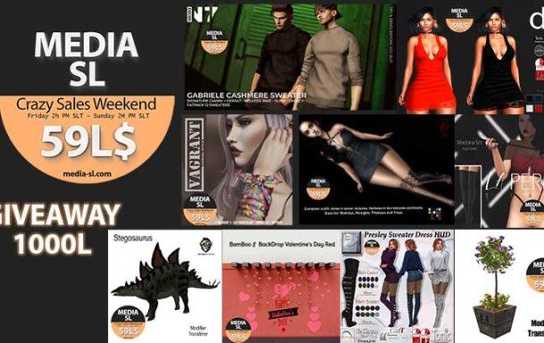 MEDIA SL CRAZY SALE WEEKEND February 7-9TH