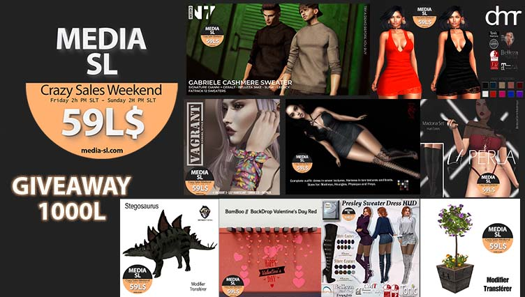 MEDIA SL CRAZY SALE WEEKEND February 7-9TH