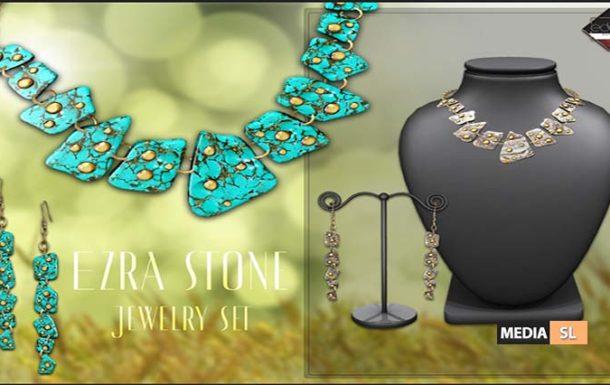 Ezra Stone Jewelry Set – NEW