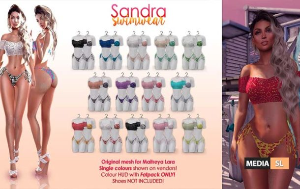 Sandra swimsuit & lace top – NEW