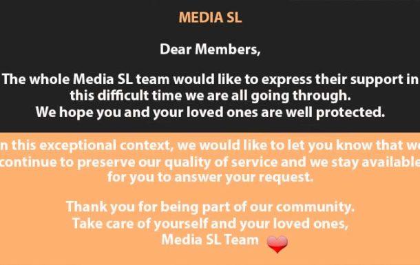 MEDIA SL Dear Members