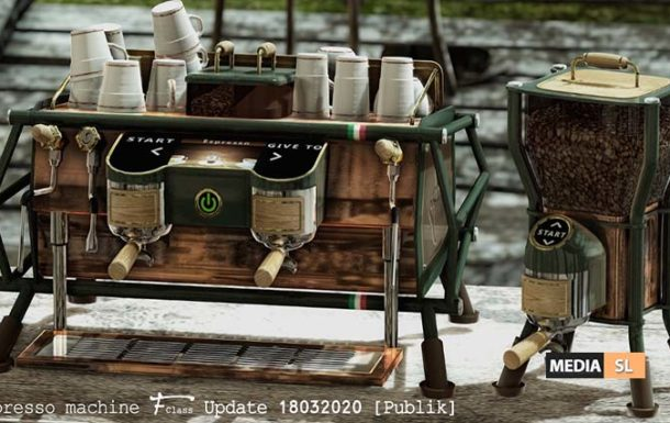 Update Espresso machine F-Class – NEW DECOR