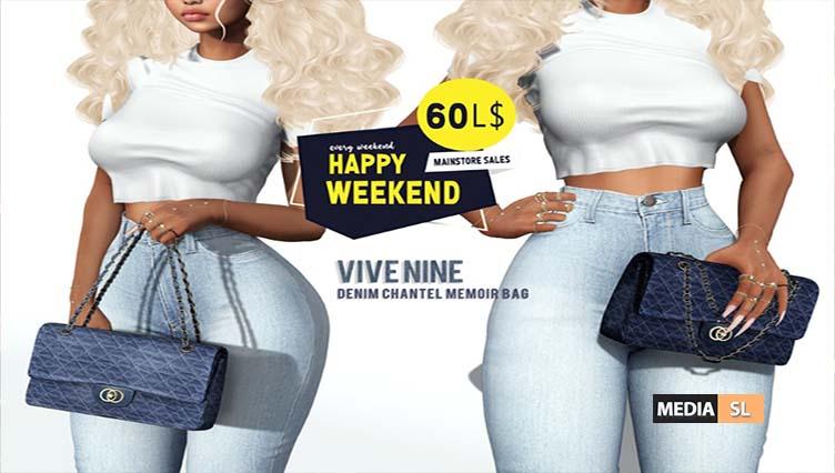 Happy Weekend! Denim Chantel Memoir Bag – Sale