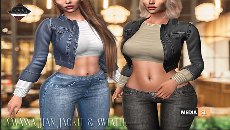 Savanna Jean Jacket & Sweater – NEW