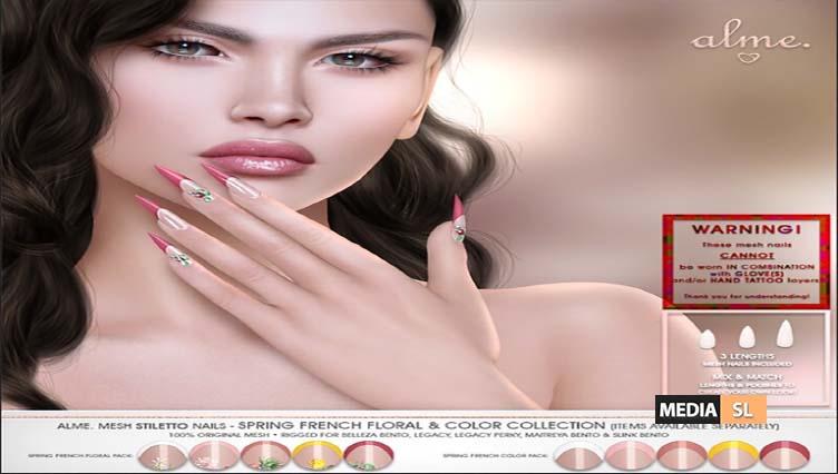 Alme Mesh Stiletto nails – NEW