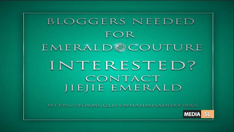 Emerald Couture Bloggers Needed – BLOG