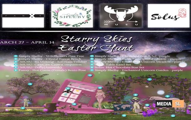 Starry Skies Sim Wide Easter Hunt – March 2020