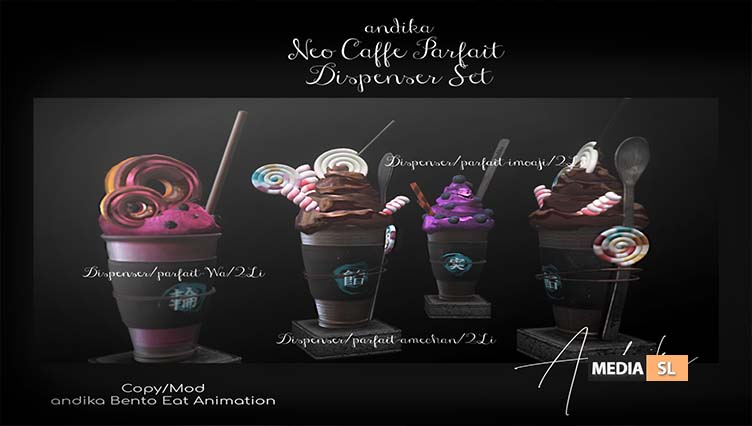 andika [Neo cafe Parfait Dispenser Set]  – NEW