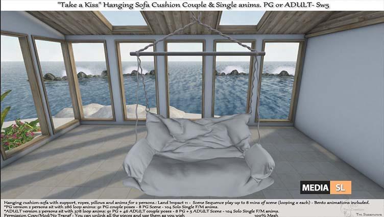 Take a Kiss Hanging Sofa Cushion with anims – NEW DECOR