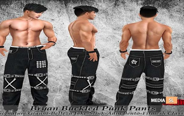 Bryan Buckled Punk Pants! – NEW MEN