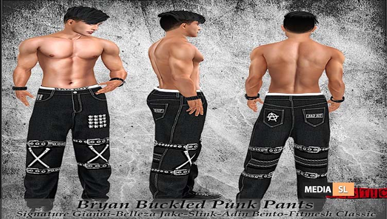 Bryan Buckled Punk Pants! – NEW MEN