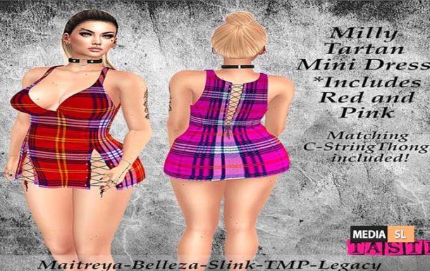 Milly Tartan Mini Dress – NEW