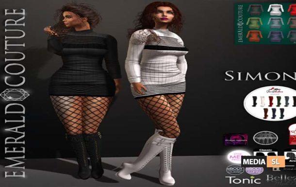 EC Simona Outfit w Hud – NEW