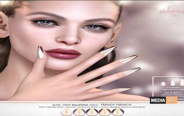 Ballerina nails Trendy French – NEW