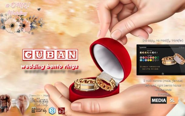 CUBAN wedding bento rings – NEW