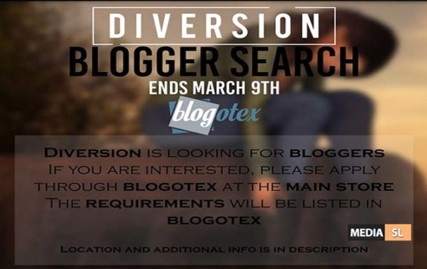 Diversion is looking for bloggers ♥ – BLOG