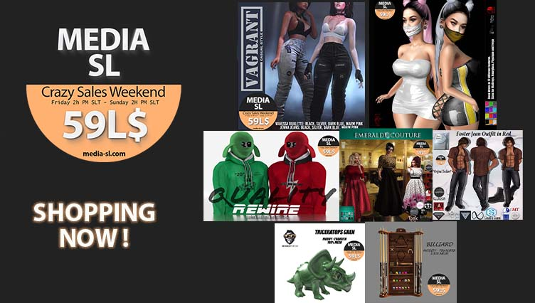 MEDIA SL CRAZY SALE WEEKEND – March 27-29TH