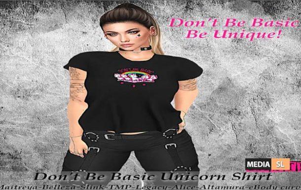 Don't Be Basic Unicorn Shirt! – NEW