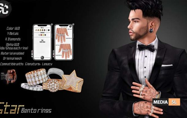Star – Bento rings – NEW MEN