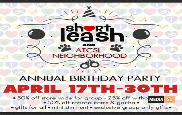 Short Leash & ATCSL's Annual Birthday Party – SALE