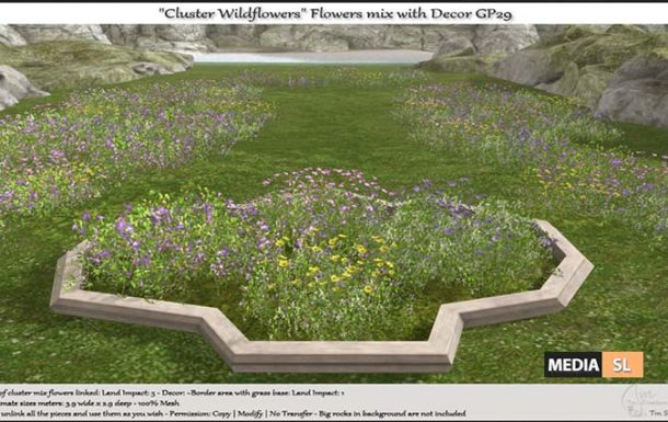 Cluster Wildflowers Flowers mix with Decor – NEW DECOR