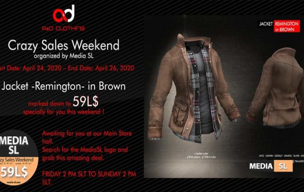A&D Clothing – Crazy Sale Weekend – SALE