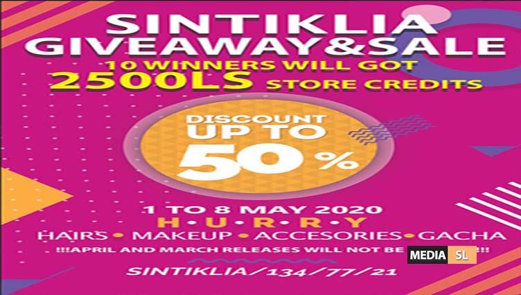 Sintiklia SALE and GIVEAWAY  – SALE