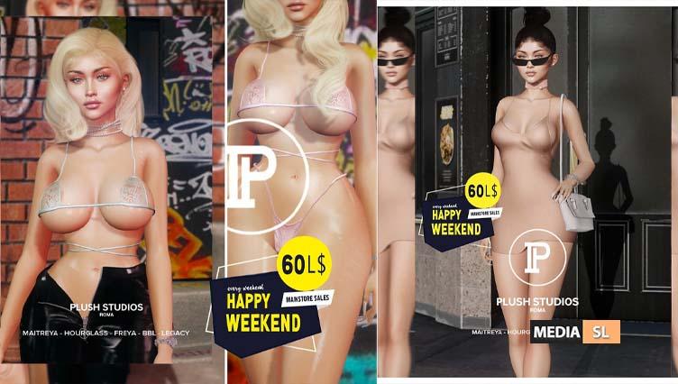 Plush Studios — Happy Weekend (April 11th-12th)  – SALE