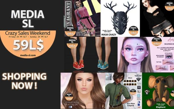 MEDIA SL CRAZY SALE WEEKEND – April 10-12TH