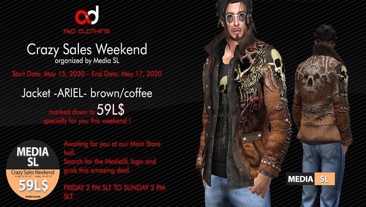 Jacket -Ariel- Brown-Coffee – SALE