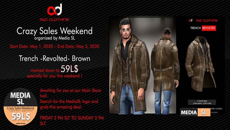 A&D Clothing – Crazy Sale Weekend – SALE