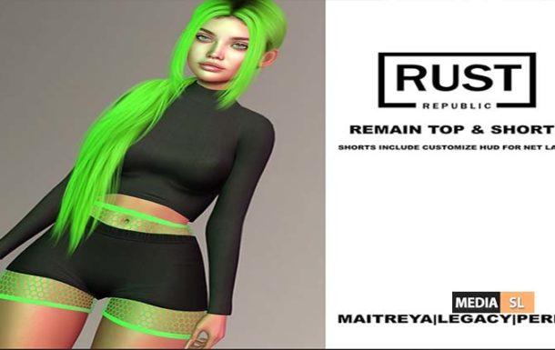 remain top & shorts – NEW