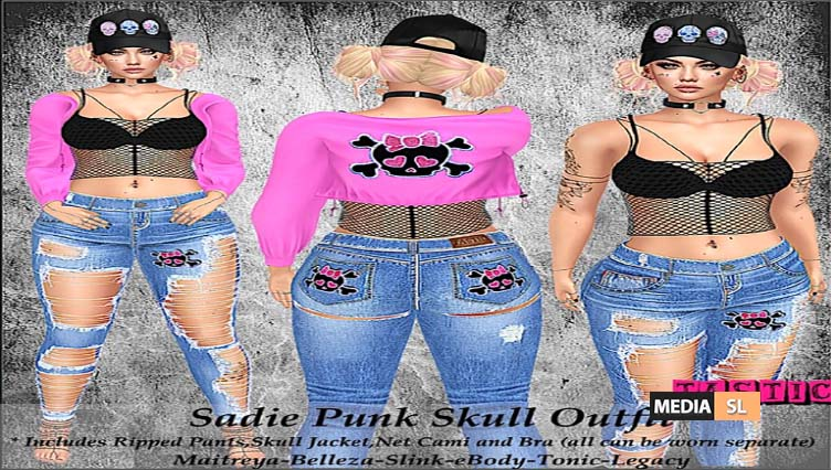 Sadie Punk Skull Outfit! – NEW