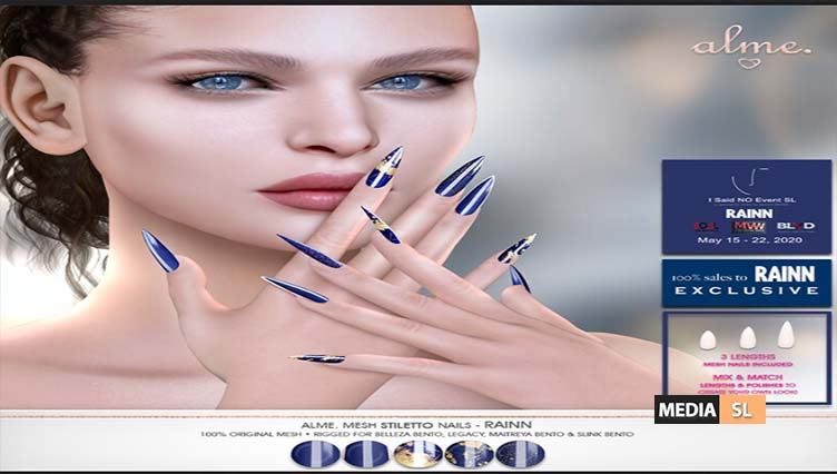 Alme Mesh Stiletto Nails// RAINN – NEW
