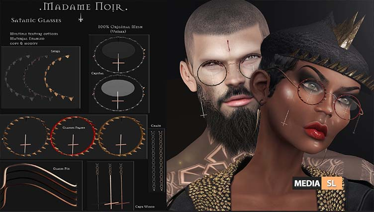 Satanic Glasses by Madame Noir – NEW