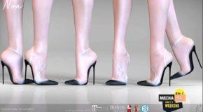 Remezzo – Noa Heels Plastic Black – Sale
