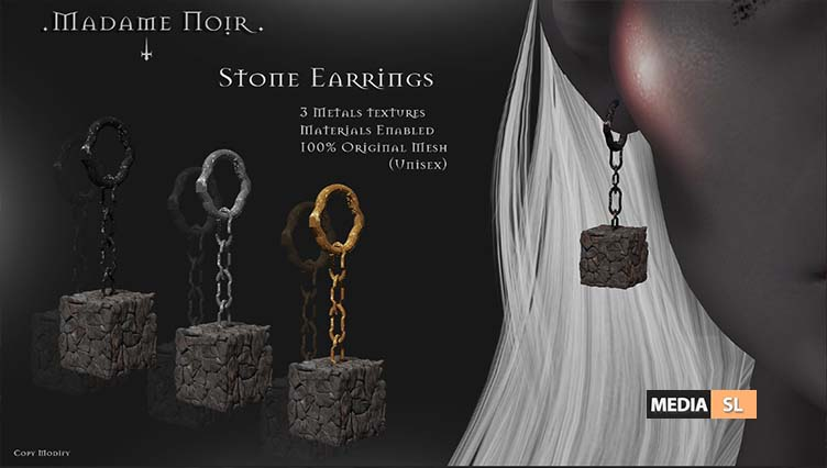 Stone Earrings by Madame Noir – NEW