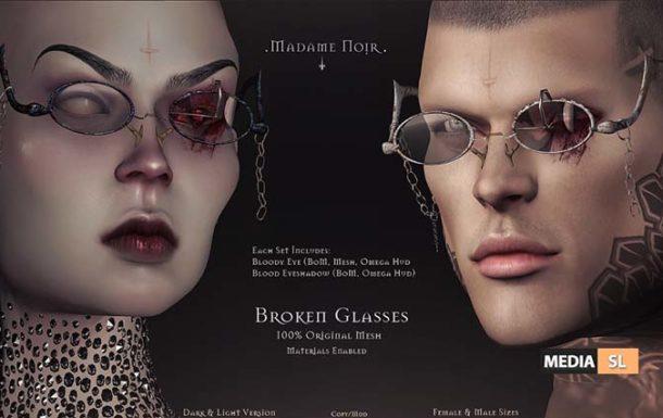 Broken Glasses by Madame Noir – NEW