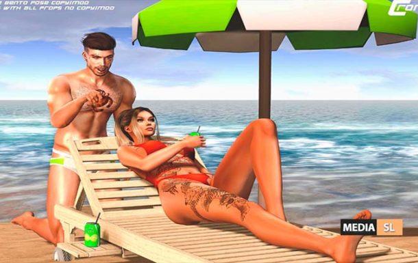 Beach Crab- Couple Bento Pose – NEW