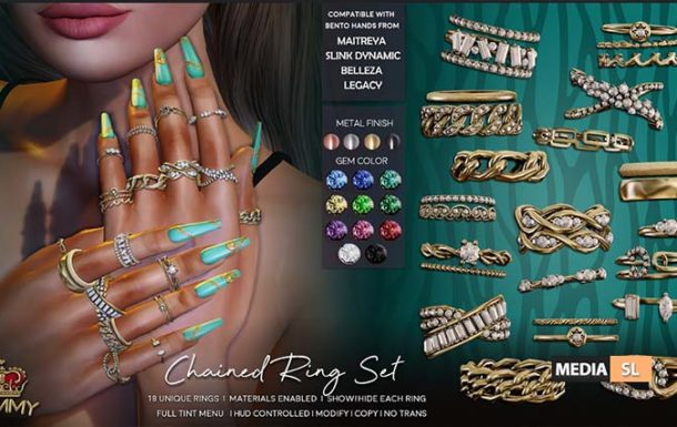 Chained Ring Set – NEW