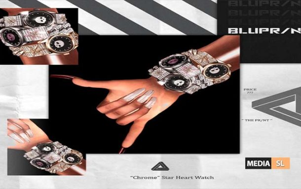 Chrome Star Heart Watch – NEW