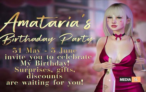 Amataria – Birthday Party – 31 May  – Sale